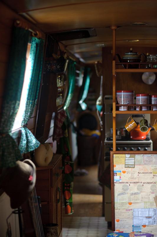 Wnętrze barki 'narrow boat'