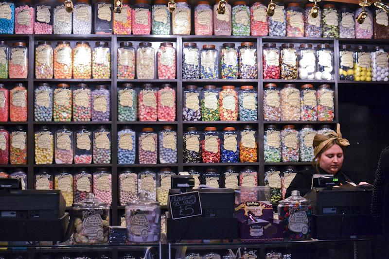 Półka ze słodyczami